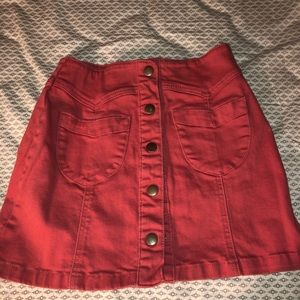 Denim red skirt for sale!!!